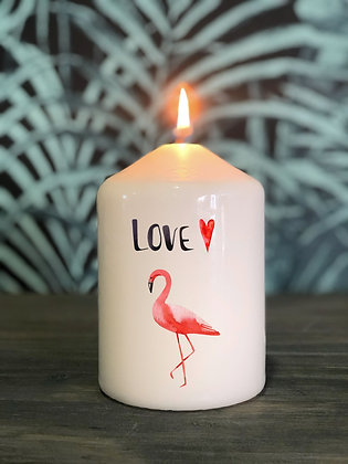 Bougie Flamant rose