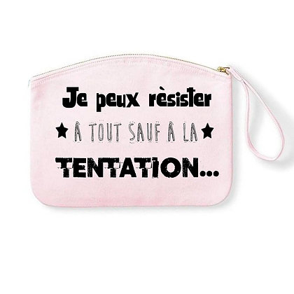 Pochette Zipée Tentation Citation 01