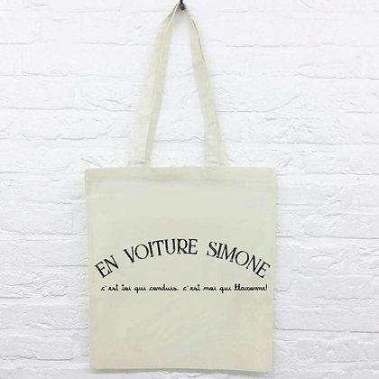 Tote Bag En voiture Simone citation drôle idée cadeau pas cher