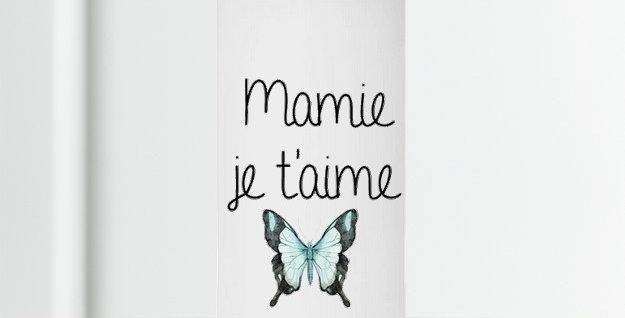Bougie Originale Mamie je t'aime cadeau original
