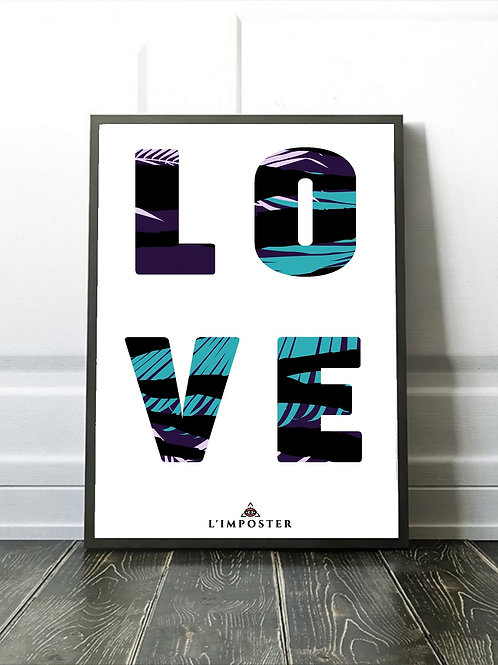 Affiche illustration LOVE JUNGLE