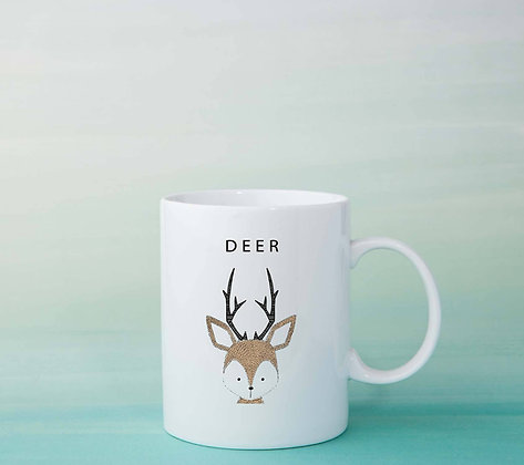Mug Cerf illustration dessin ideé cadeau tasse