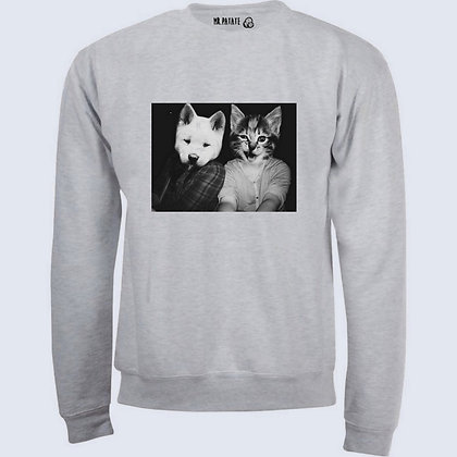 Sweat-Pull Over Chien et chat illustration swag funny