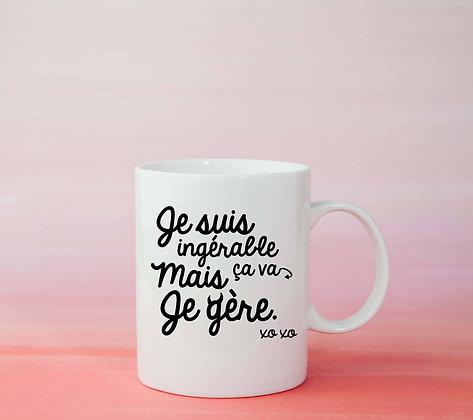 Mug Ingérable Citation drôle tasse à café