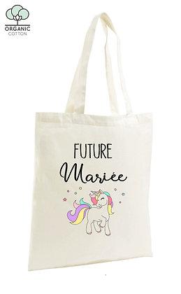 Tote Bag EVJF future mariée licorne