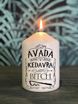 Bougie Harry potter Avada Kedavra