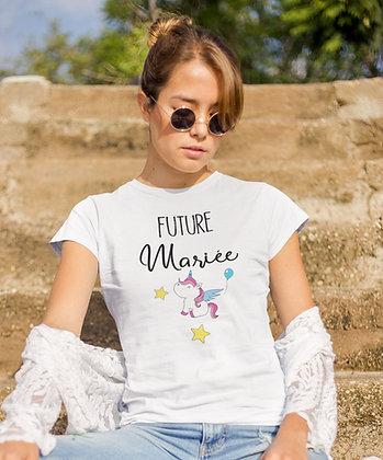 T-shirt EVJF team de la future mariée licorne