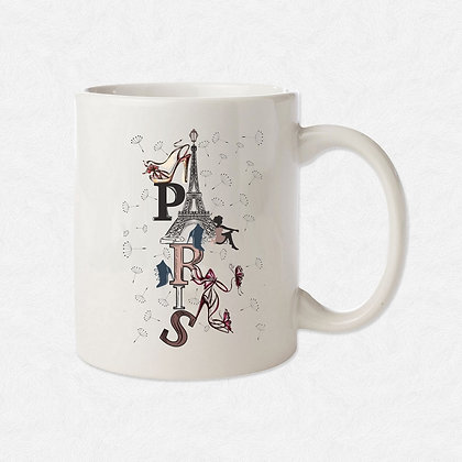 Mug Paris illustration
