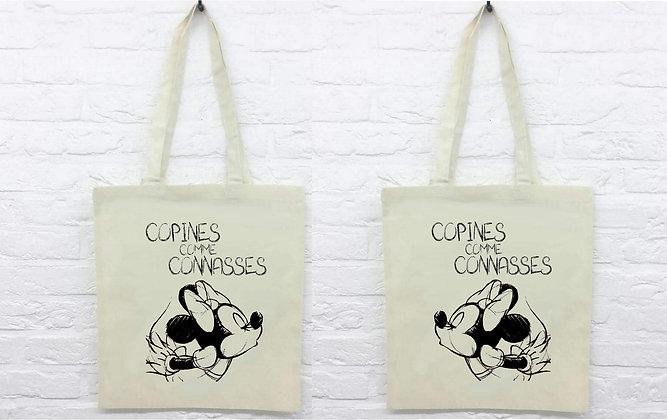 Duo Tote Bag Copines commes connasses minnie disney