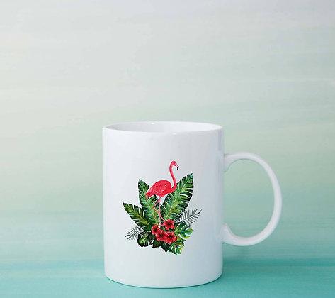 Mug Flamant rose Illustration dessin tasse licrone