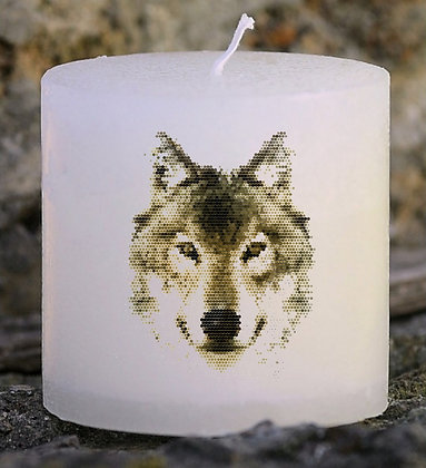 Bougie Personnalisée Nany Candle Loup
