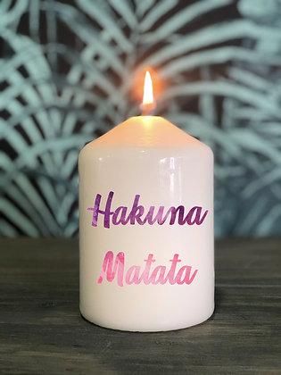 Bougie Hakuna Matata