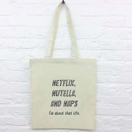 Tote Bag Netflix Nutella and Naps