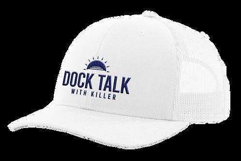Dock Talk with Killer White Mesh Back Cap
