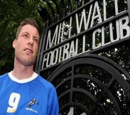 Man outside Millwall FC gates.jpg