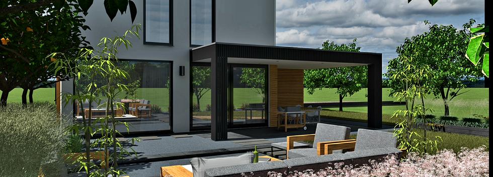 Duurzame moderne villa DGV Group achteraanzicht