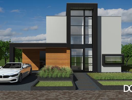 Duurzame villa DGV Group vooraanzicht