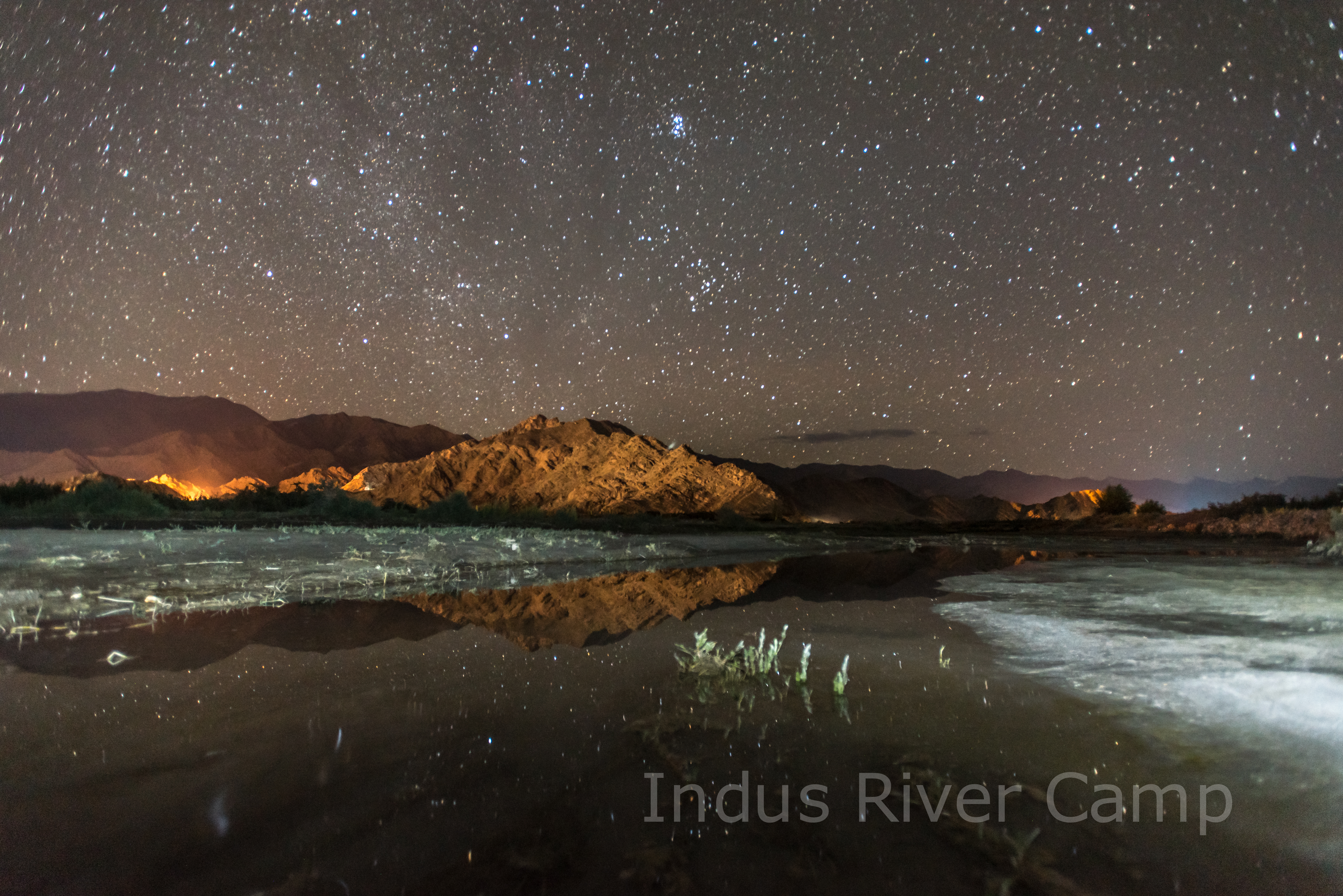 Indus River Camp at night