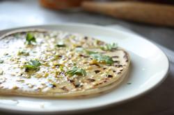 Cheese, garlic and chilli naan