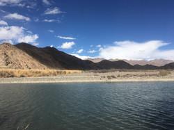 River Indus and Himalayas