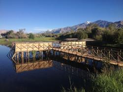 Our campsite pond and Stok Kangri
