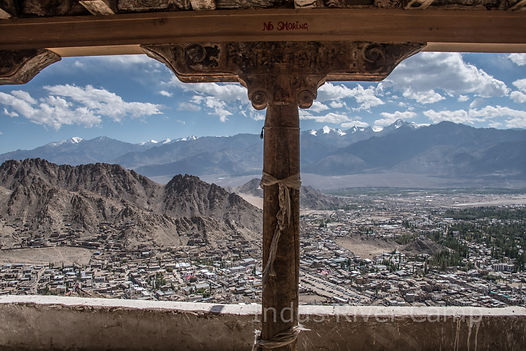 View from Leh Palace. Indus River Camp