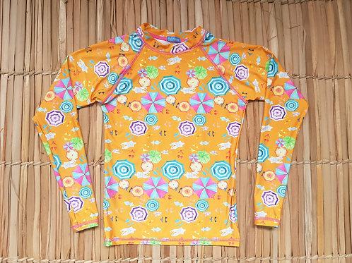 Blusa Infantil com proteção UV,  Estampada - Estampa Praiana