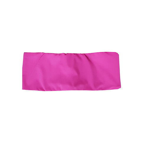 Top Faixa Dupla Face Liso -  Pink Penélope + Preto