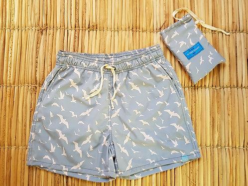 Shorts Masculino Estampado - Estampa Aves 02
