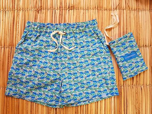 Shorts Masculino Estampado - Estampa Esmeralda