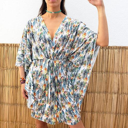 Saída Kimono Estampada - Estampa Cactos
