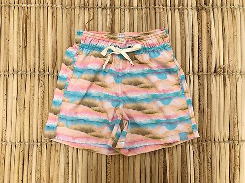 Shorts Infantil Estampado - Estampa Ondas e Areias