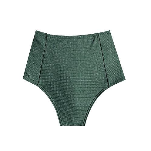 Bottom Hot Pants - Verde Militar Texturizado