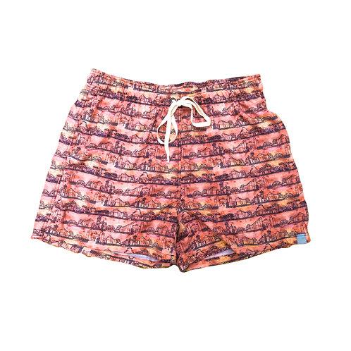 Shorts Masculino Estampado - Estampa Colonial