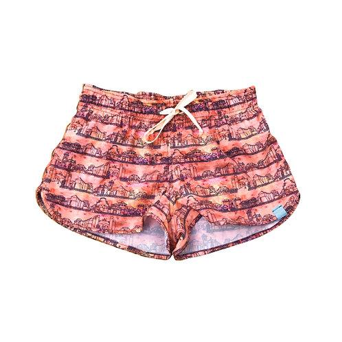 Shorts Feminino Estampado - Estampa Colonial