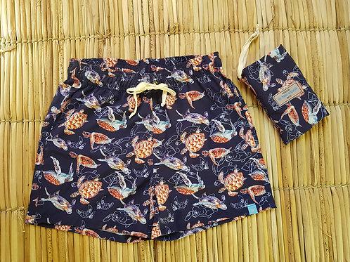 Shorts Masculino Estampado - Estampa Tartarugas