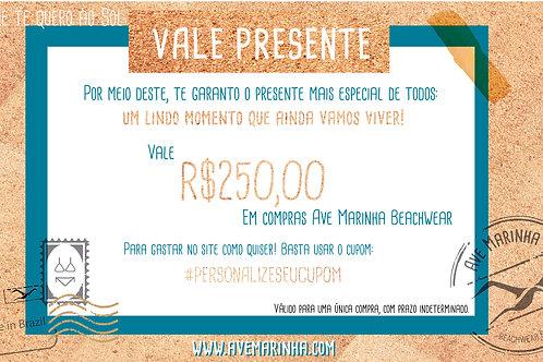 Vale Presente R$ 250