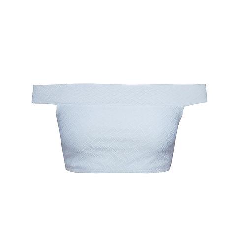 Top Ombro a Ombro Texturizado - Branco