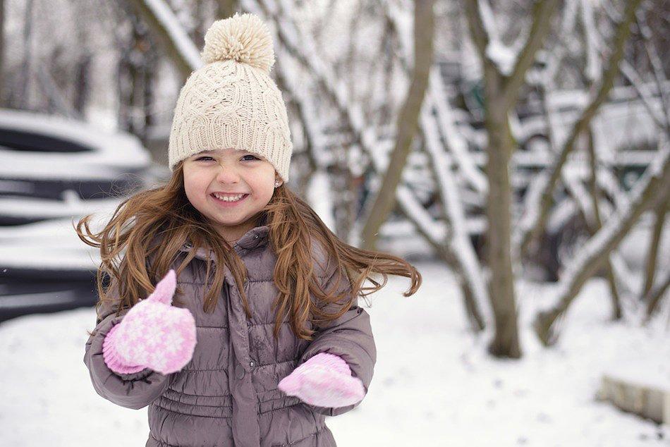 winter, coat, hat, gloves, girl