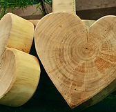 wooden heart, carved