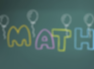 math, balloons, board