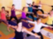 yoga, class, mats, women