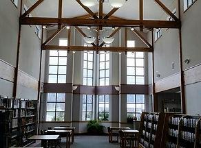 Hayden Library, books, windows