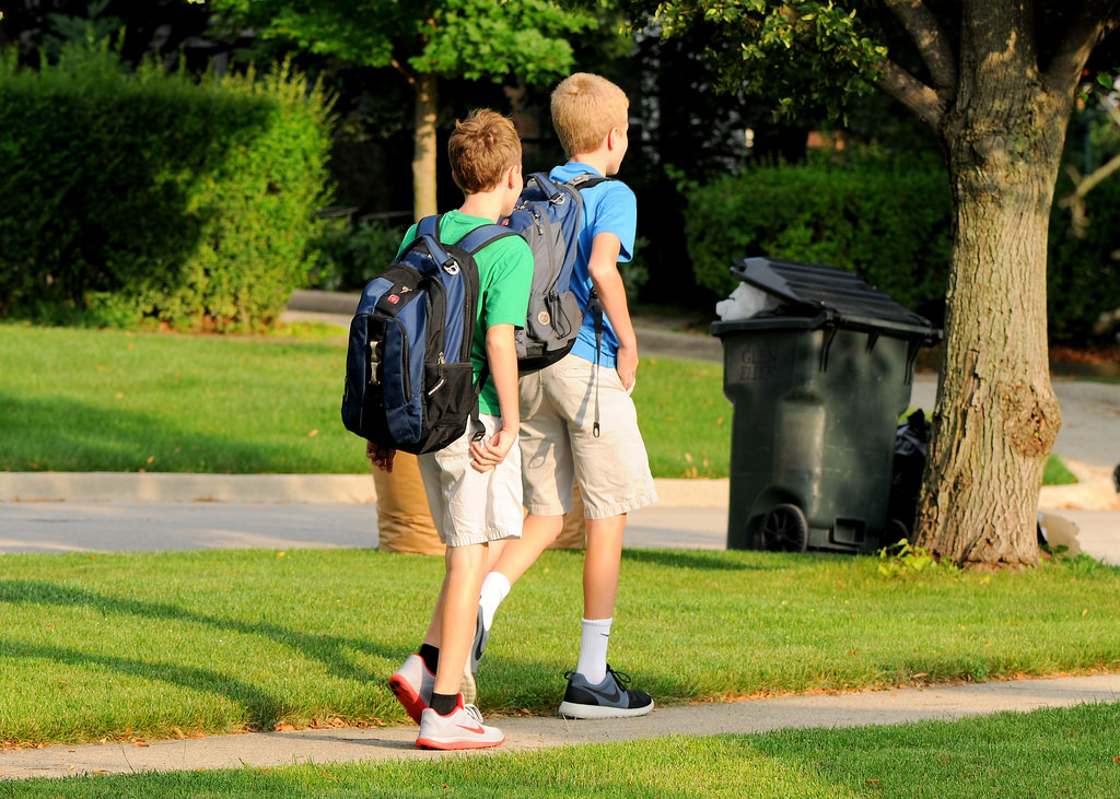 school, backpacks, boys