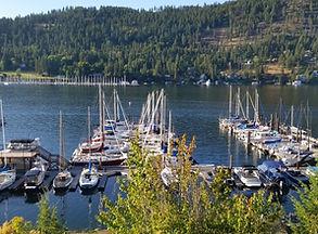 Bayview, Idaho, sailboats, dock