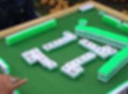 mah jongg, game, letters