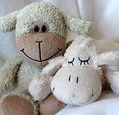 sheep, stuffed animals