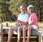 fishing, couple, dock