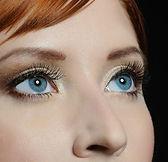 blue eyes, woman, eyelashes