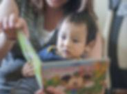 child, rading, book, parent